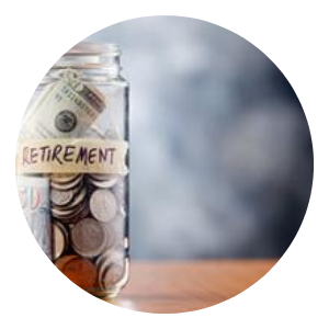 Change jar saving for retirement