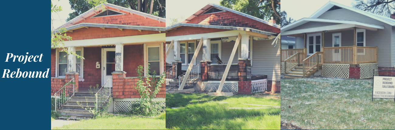 outside of a house before and after