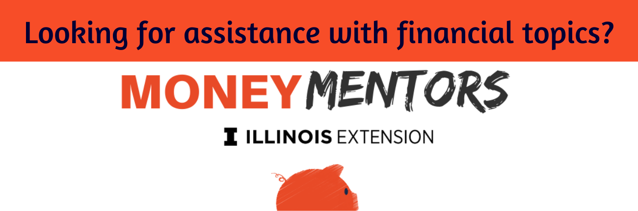 Money Mentor pig and words - are you looking for financial assistance?