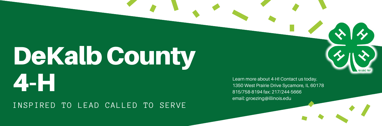 DeKalb County 4-H Banner