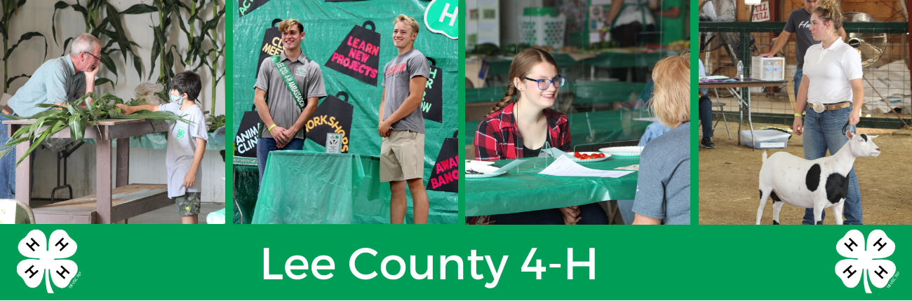 Lee County 4-H members at the 2021 Show
