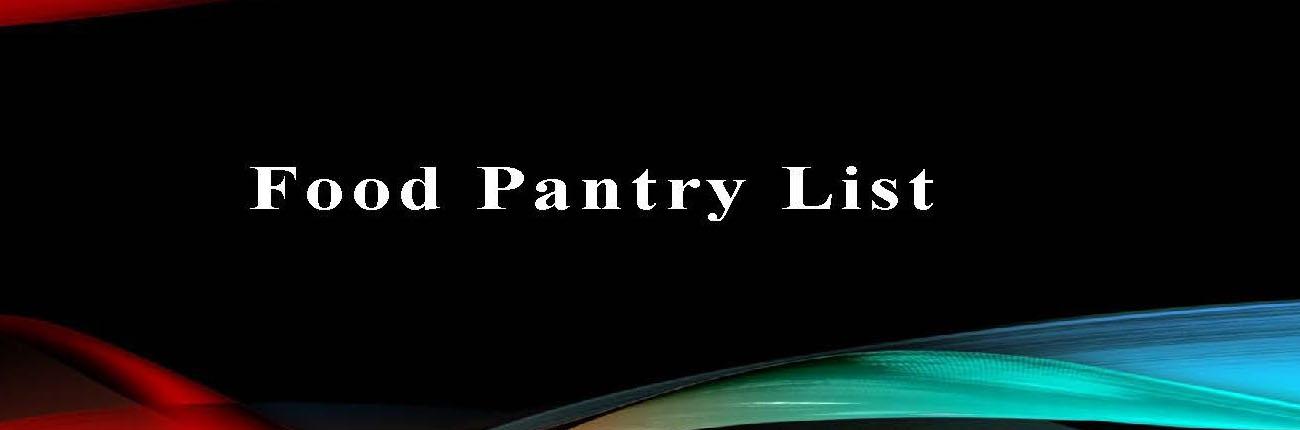 Food Pantry List