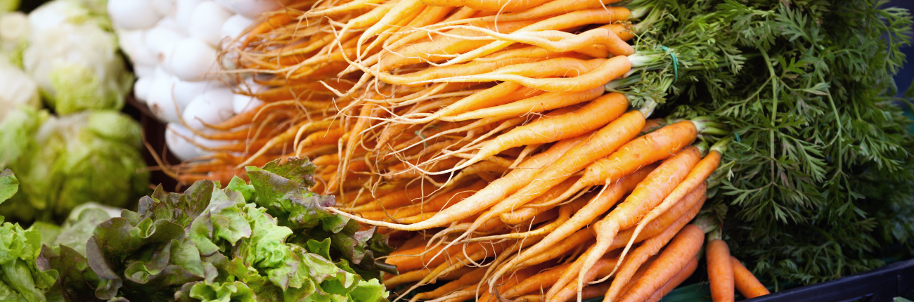 bundle of locally grown carrots