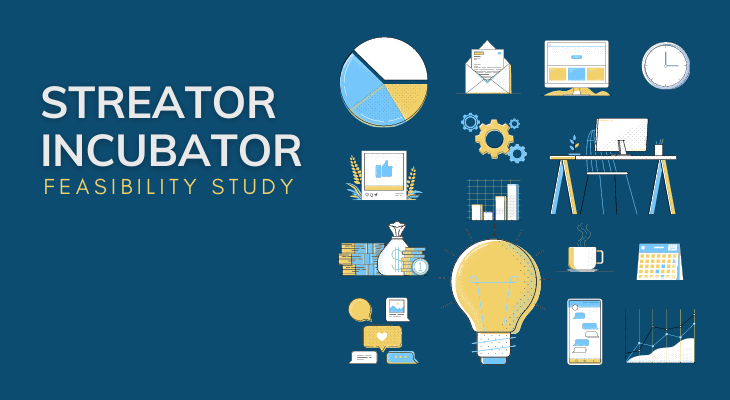 Streator Incubator Blog with business icons