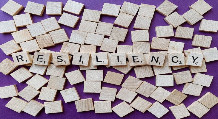 scrabble tiles spelling resiliency