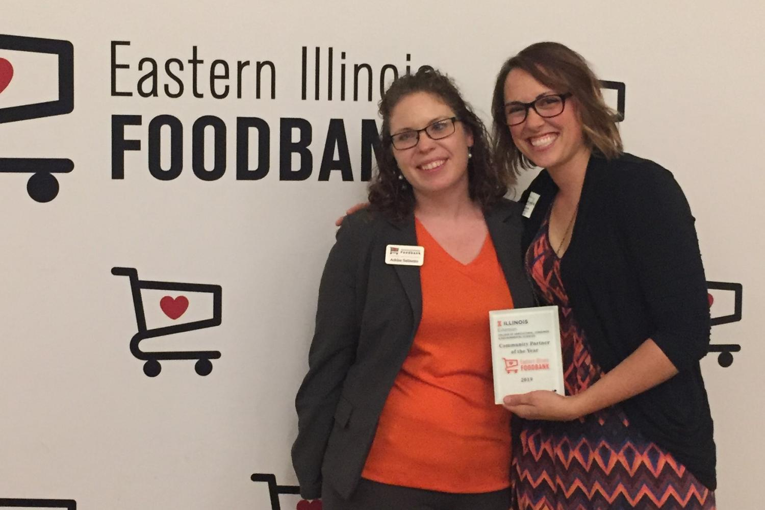 Ashley Salinetro, Partnership Manager at Eastern Illinois Foodbank with Caitlin Kownacki, University of Illinois Extension specialist