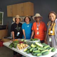 Master Gardeners with food donation harvest.