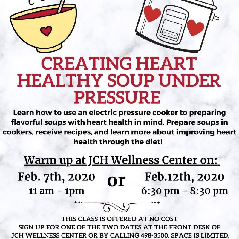 Heart Healthy Soup Under Pressure Flyer