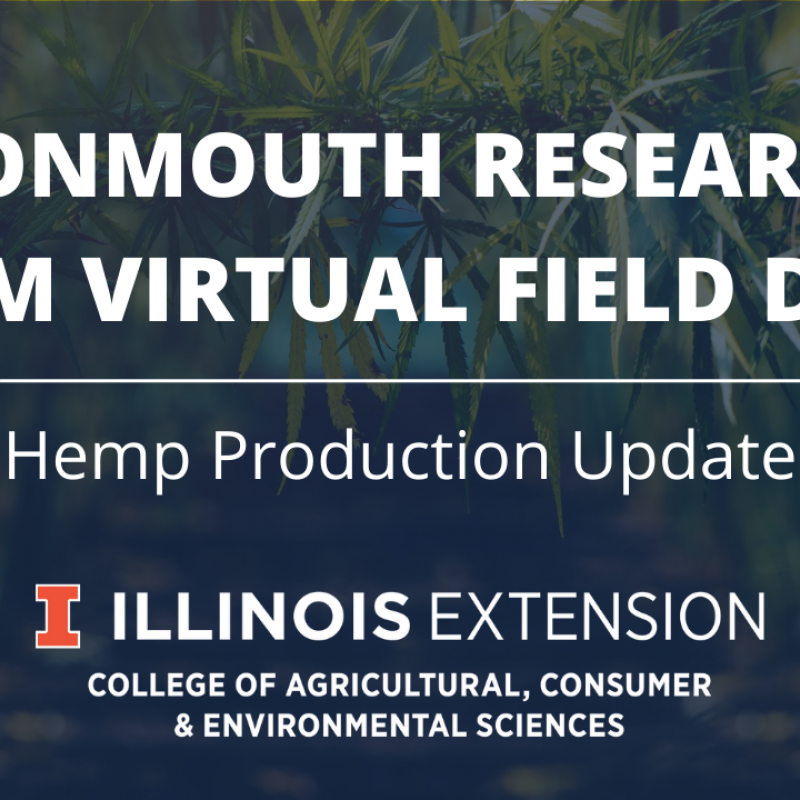 graphic of virtual field day hemp production