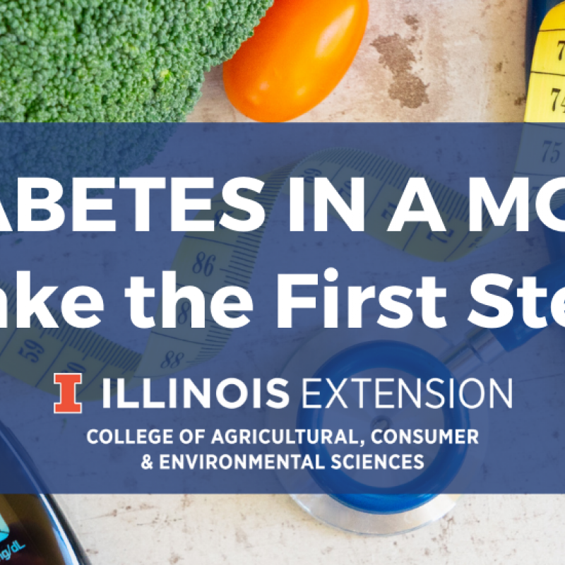 event banner for managing diabetes: take the first step