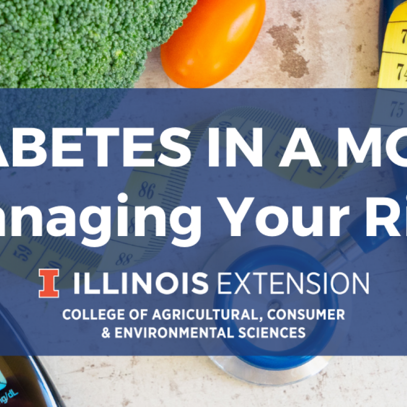 event banner for managing diabetes: managing your risk