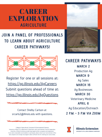 Career Exploration Agriculture Flyer