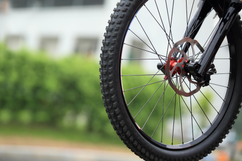 photo of bicycle tire