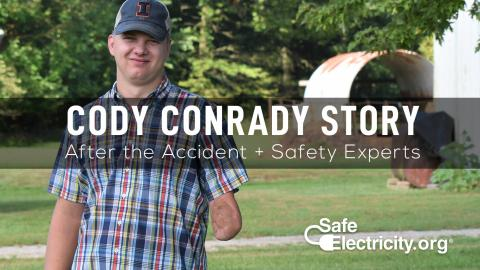 cody conrad injured in farm electrical accident