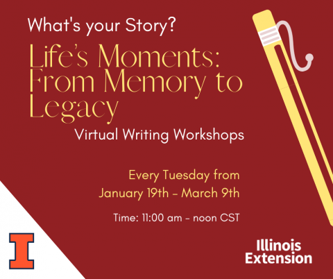 Life's Moments writing workshop