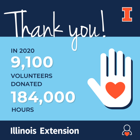 9100 volunteers for Extension